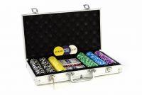 Pokerový set v praktickém kufříku ULTIMATE 300 žetonů
