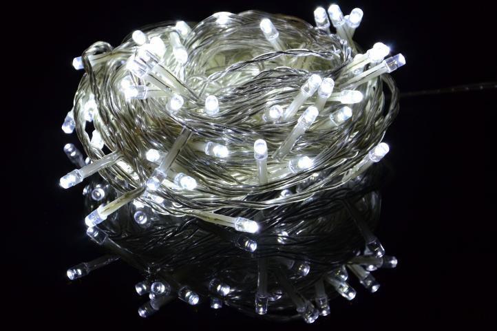 Vánoční LED osvětlení Garth 9m - studeně bílé, 100 diod