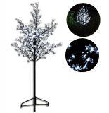 Dekorativní LED strom s květy - 1,5 m, studená bílá
