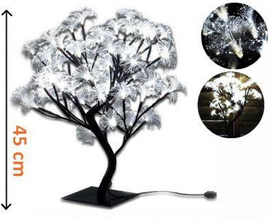 Dekorativní LED osvětlení - strom s květy, studeně bílá