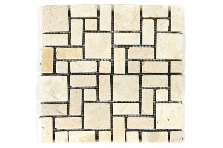 Divero 1130 Mramorová mozaika krémová obklady 11 ks - 1m²