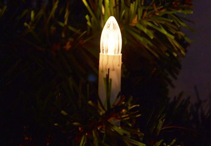 Vánoční svíčky s 30 LED diodami