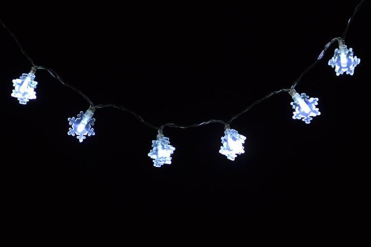 Vánoční osvětlení - zimní vločka - studené bílé