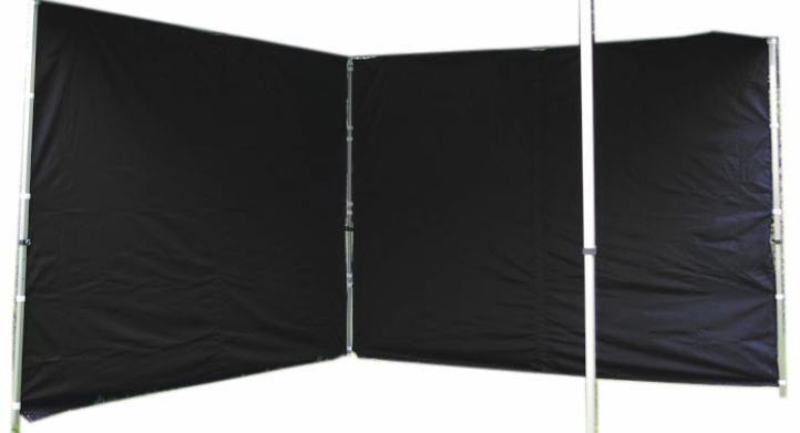 Garthen 1487 Sada 2 bočních stěn pro PROFI zahradní stan 3 x 3 m - černá