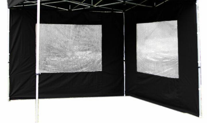 Garthen 1488 Sada 2 bočních stěn pro PROFI zahradní altán 3 x 3 m - černá