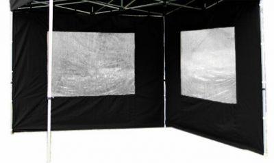 Sada 2 bočních stěn pro PROFI zahradní altán 3 x 3 m - černá