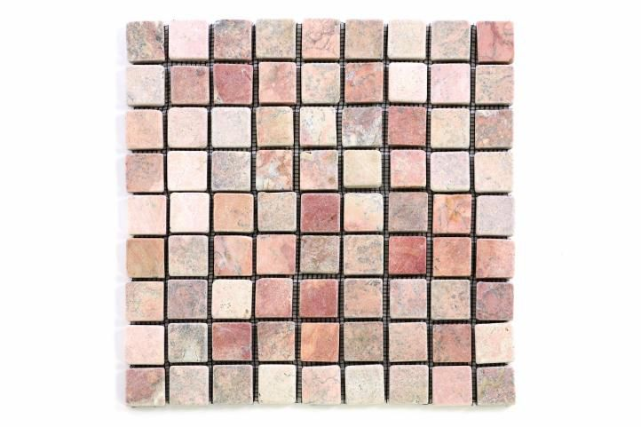 Divero 1637 Mramorová mozaika - červená 1 m2
