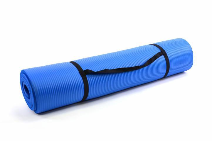 Podložka na jógu modrá 190 x 102 x 1,5cm