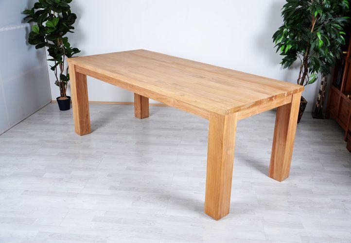 Divero 2027 Zahradní dřevěný stůl z týkového dřeva 180 x 90 x 77cm