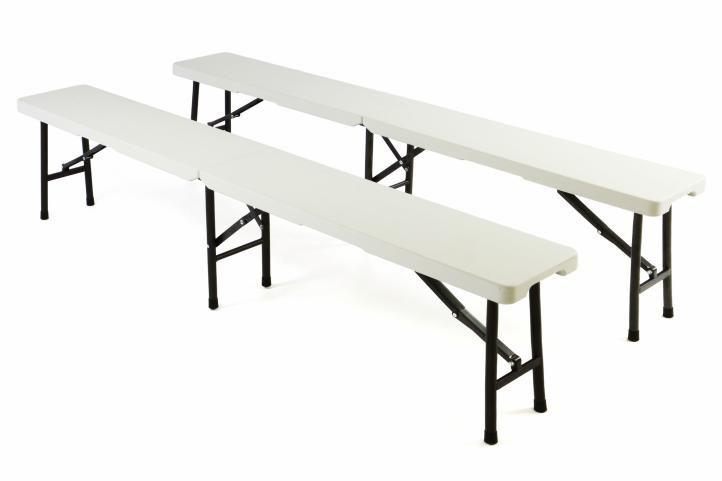 Skládací kempinková lavice, 2 ks