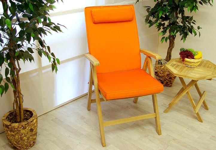 Divero Garth 2283 4 x kvalitní potah na židli s vysokým opěradlem, oranžový