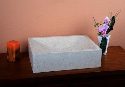 DIVERO umyvadlo z přírodního kamene Filiano