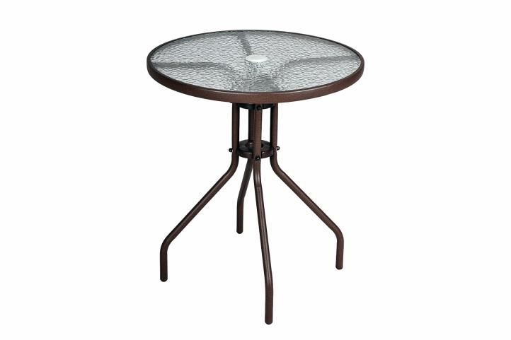 Garthen 2339 Bistro stolek se skleněnou deskou
