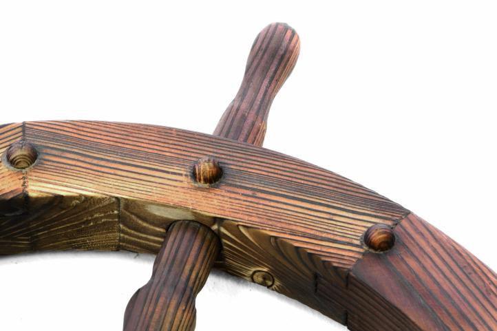 Dřevěné kormidlo Garth 80 cm - stylová rustikální dekorace