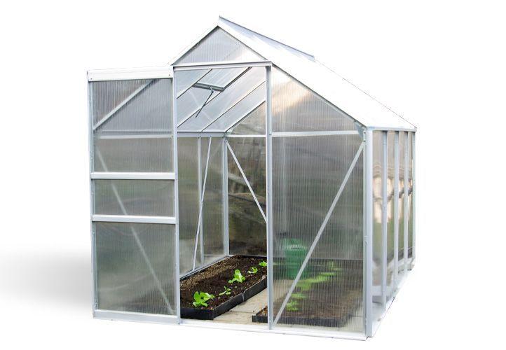 Zahradní skleník Garth s posuvnými dveřmi 250 x 190 x 195 cm