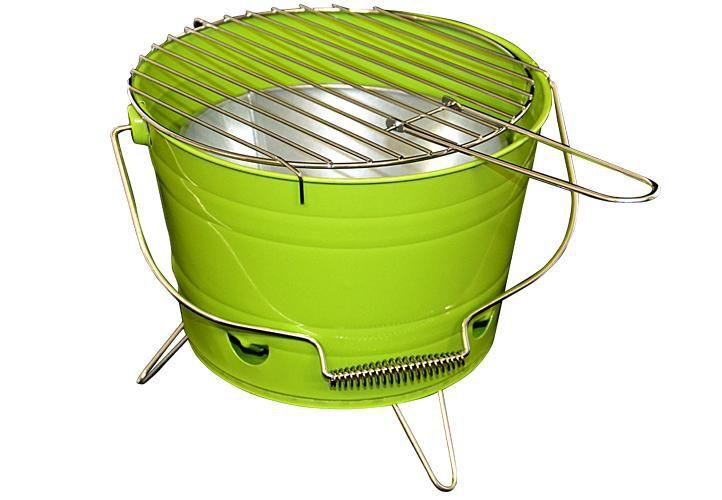 Garthen 27146 Mini BBQ gril vědro zelený