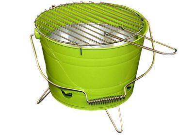 Mini BBQ gril vědro zelený