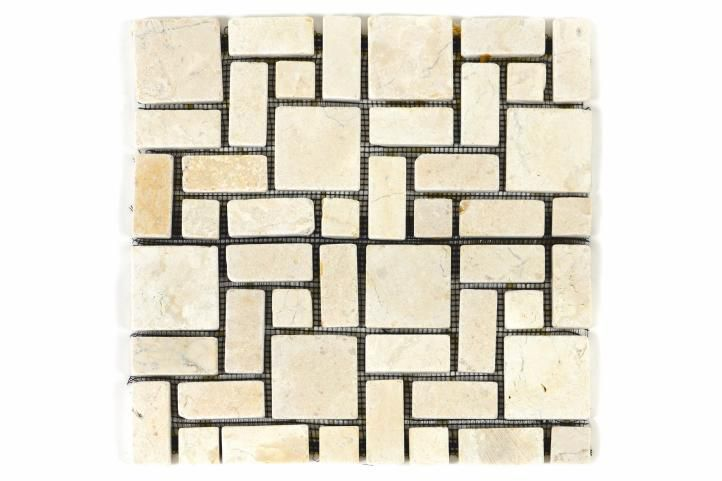 DIVERO Mramorová mozaika krémová obklady 1 ks