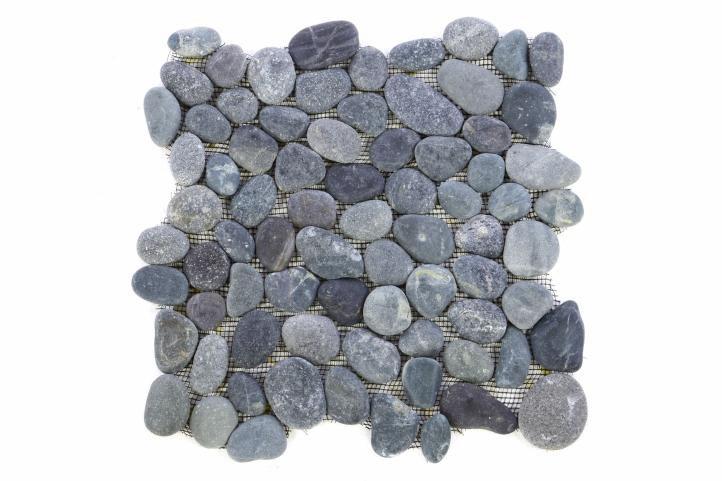 Divero 27445 Mozaika Garth říční oblázky - šedá - 1x síťka