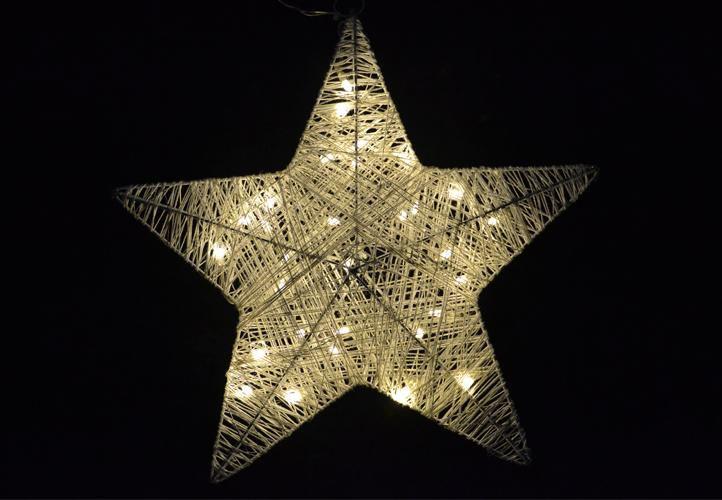 Vánoční dekorace - vánoční hvězda - 35 cm, 30 LED diod