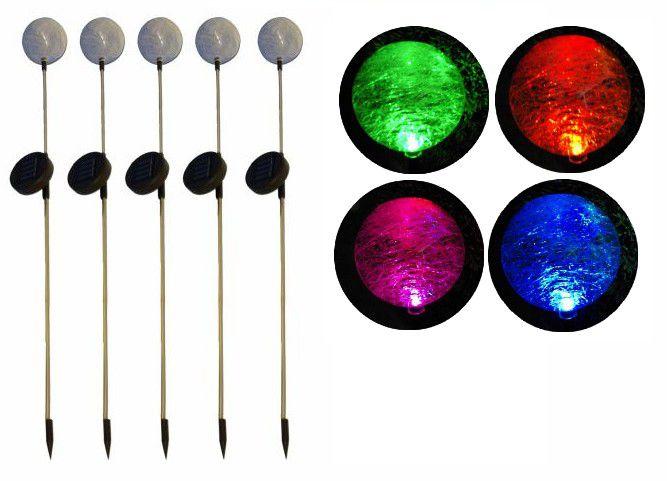 """REMO zahradní LED sada solárních světel Garth \""""koule\"""" s barevnou změnou 5 ks"""