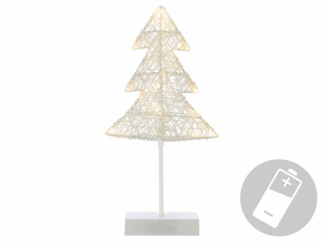 Nexos 28427 Vánoční dekorace - Svítící stromek ratanového vzhledu - 40 cm, 20 LED