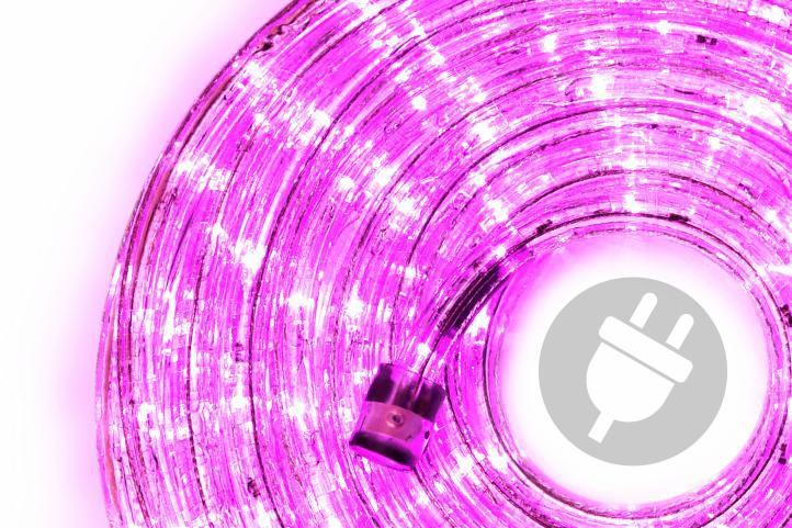Nexos Trading GmbH & Co. KG 28839 LED světelný kabel 10 m - růžová, 240 diod
