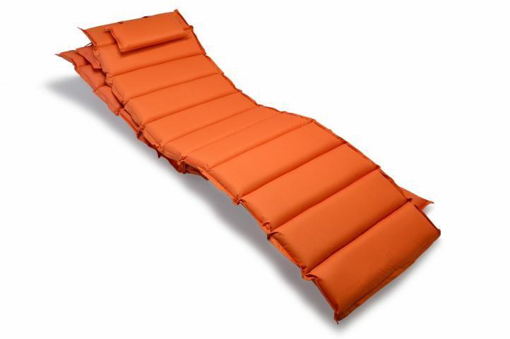 Divero 29897 Sada 2x polstrování na lehátko - oranžová
