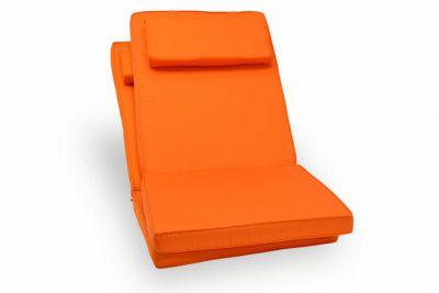 Sada 2 kusů polstrování na židli Garth - oranžová