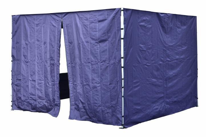 Sada 2 bočních stěn pro PROFI zahradní stan 3 x3 m modrá