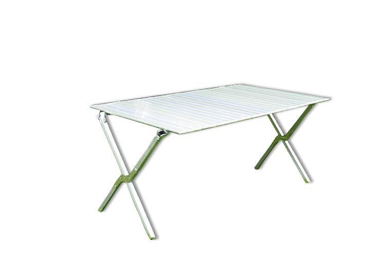 Zahradní hliníkový skládací stůl 140 x 72 cm