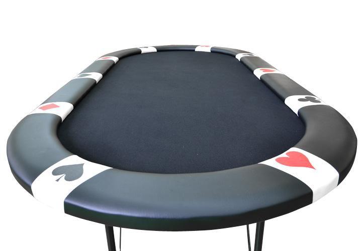 Garthen 31187 Pokerový stůl BLACK EDITION pro 10 lidí