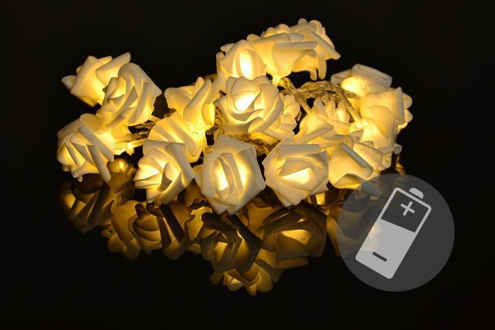 Nexos 33220 Dekorační LED osvětlení - růže - 20 LED, teplá bílá