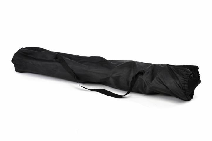 Kempingová sada - 2x skládací židle s držákem - černá