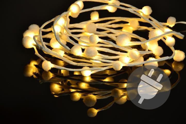 Nexos 33482 Vánoční LED osvětlení - sněhové vločky - 48 LED, teplá bílá