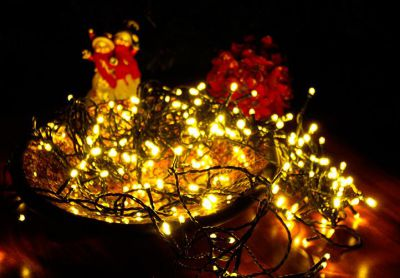 Vánoční LED osvětlení 40 m - teple bílé 400 LED s časovačem