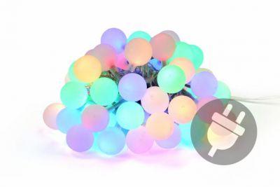 Zahradní párty osvětlení - venkovní 50 LED pastelové barvy