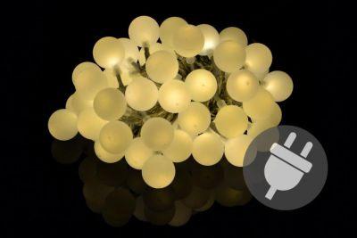 Zahradní párty osvětlení - venkovní 50 LED teple bílá