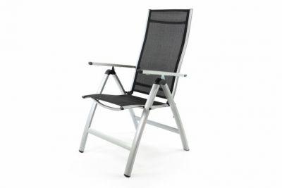 Extra široká zahradní židle polohovatelná - černá