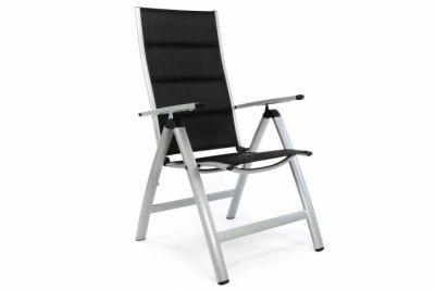 Luxusní zahradní židle s černým polstrováním
