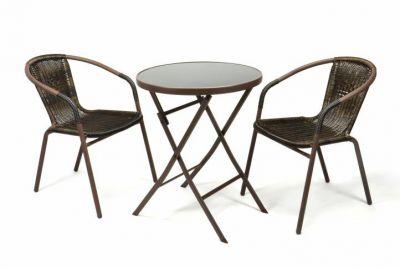 Zahradní balkonový set skládací bistro stolek + dvě židle