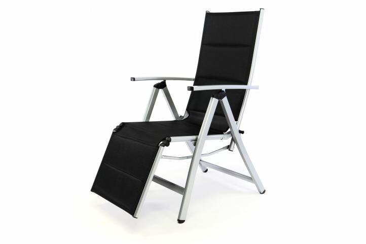 Garthen 35364 Polohovatelná zahradní židle s opěrkou nohou DELUXE
