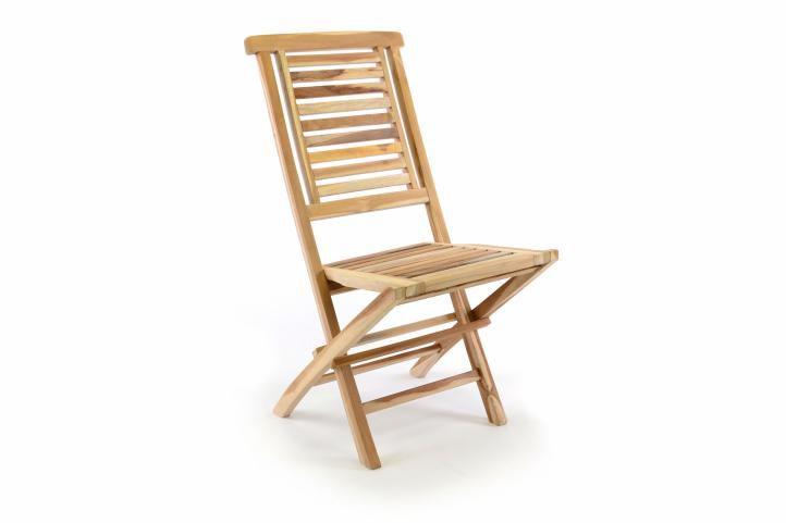 """Divero 35519 Zahradní židle skládací """"Hantown"""" z masivního týkového dřeva"""