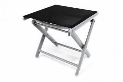 Hliníková zahradní stolička - skládací černá