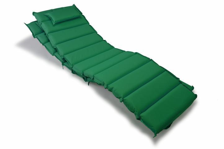 Divero 35878 Sada 2x polstrování na lehátko - tmavě zelená