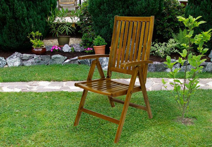 Skládací židle Garth z akátového dřeva