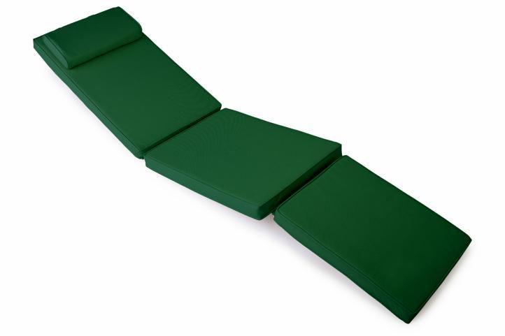 Divero 36874 Polstrování pro lehátko 188 cm - tmavě zelená