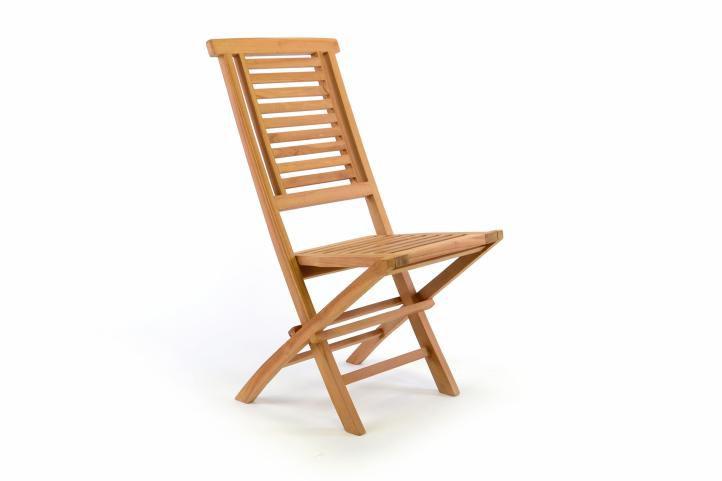 Divero 36876 Skládací zahradní židle Hantown - týkové dřevo