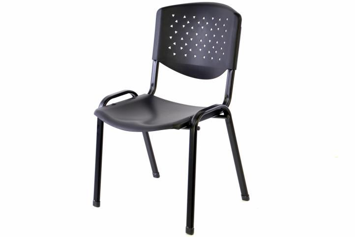 Stohovatelná plastová kancelářská židle - černá
