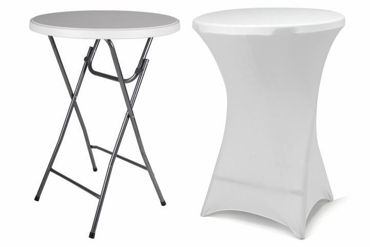 Garthen BISTRO 38402 Párty stolek skládací vč. elastického potahu 80 x 80 x 110 cm